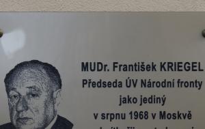 Praha 2. Pamětní deska Františku Kriegelovi