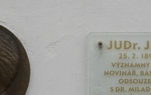 Praha 10. Pamětní deska Jiřímu Hejdovi
