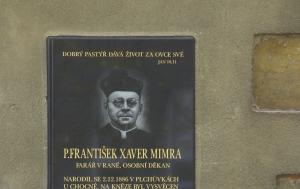 Raná. Pamětní deska Františka Xavera Mimry
