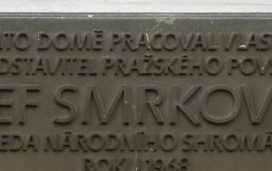 Praha 1. Pamětní deska Josefu Smrkovskému
