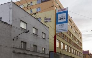 Liberec. Tramvajová zastávka Rybníček – René Matoušek a další liberečtí signatáři Charty 77