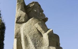 Číhošť. Pomník Josefu Toufarovi
