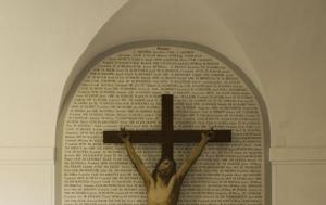 Želiv. Památník internovaným kněžím a řeholníkům