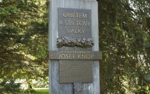Žamberk. Pamětní deska Josefu Knopovi