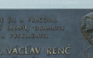 Fryšták. Pamětní deska Václavu Renčovi