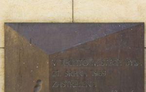 Brno. Pamětní deska Danuši Muzikářové