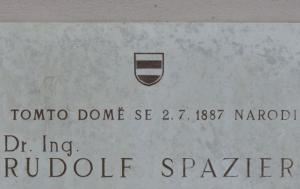 Brno. Pamětní deska Rudolfu Spazierovi