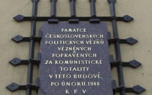Brno. Pamětní deska politickým vězňům