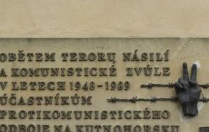 Kutná Hora. Pamětní deska obětem komunismu
