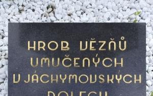 Jáchymov. Symbolický hrob politických vězňů