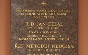 Křižanovice. Pamětní deska obětem zla a nesvobody