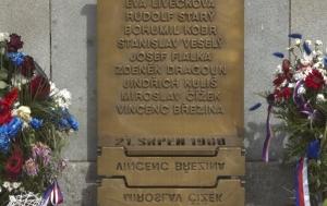 Liberec. Pamětní deska obětem sovětské invaze