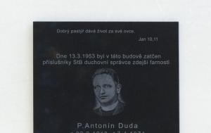Bohumín. Pamětní deska Antonínu Dudovi