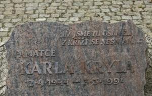 Nový Jičín. Pamětní deska Karlu Krylovi