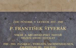 Praha 20 - Horní Počernice. Pamětní deska Františku Štverákovi