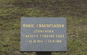 Praha 1. Pamětní deska Marii Charouskové
