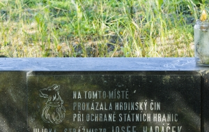 Libá. Pomník ozbrojeného střetu na hranicích