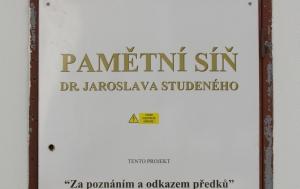 Bělotín. Pamětní síň Jaroslava Studeného