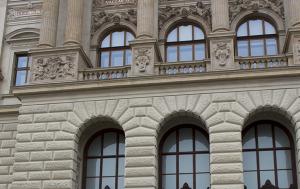 Praha 1. Pamětní deska upomínající na 21. srpen 1968