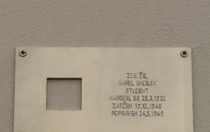 Praha 2. Pamětní deska Karlu Bacílkovi II