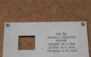 Praha 7. Pamětní deska Jaroslavu Borkovcovi