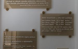 Žďár nad Sázavou. Pamětní desky obětem komunistického režimu