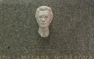 Plzeň. Busta Milady Horákové