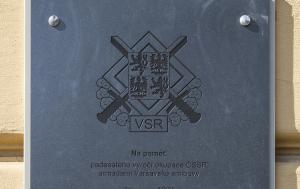 Plzeň. Pamětní deska k 50. výročí okupace v srpnu 1968