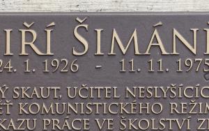 Česká Skalice. Pomník Jiřímu Šimáni