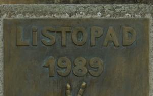 Česká Skalice. Pamětní deska k 25. výročí Listopadu 1989