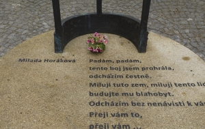 Praha 1. Pomník Miladě Horákové
