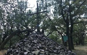 Vysoký vrch. Mohyla Jana Palacha