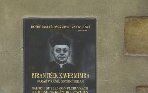 Raná. Pamětní deska Františku Xaveru Mimrovi