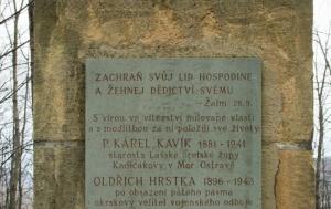 Štramberk. Pamětní deska členům Orla