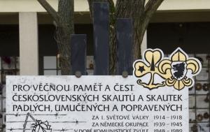 Praha 10. Památník československým skautům a skautkám