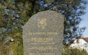 Suchdol nad Lužnicí. Pomník Za svobodu národa