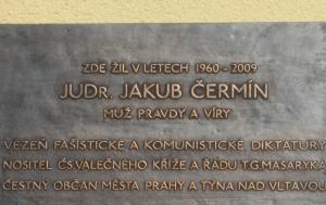 Praha 6. Pamětní deska Jakubu Čermínovi