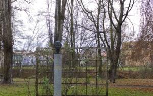 Česká Lípa. Pomník s bustou a park Milady Horákové