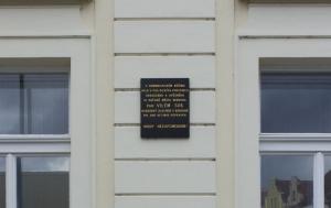 Beroun. Pamětní deska občanům města odsouzeným v politických procesech