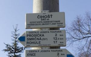 Číhošť. Cesta Josefa Toufara