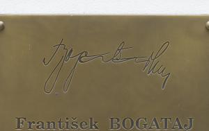 Uherský Ostroh. Pamětní deska Františku Bogatajovi