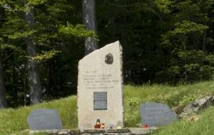 Svatý Hostýn. Pomník obětem komunismu a skupiny Hory Hostýnské