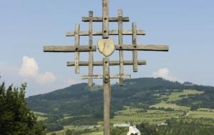 Návojná. Kříž na památku událostí z 21. ledna 1949 v Nedašově