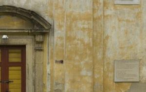 Bořislav. Pamětní deska Franzi Sittemu