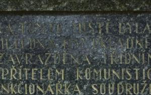 Chlum. Pomník Anně Kvašové