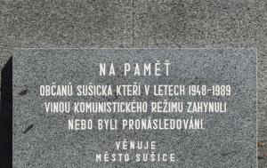 Sušice. Pomník obětem válek a komunismu