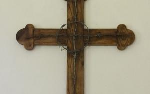 Stožec-Dobrá. Kříž v kapli