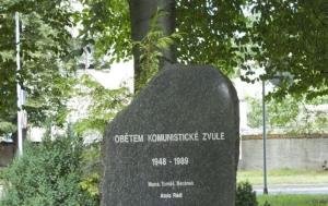 Vodňany. Památník obětem komunistické zvůle 1948–1989