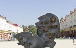 Karviná. Pomník obětem vojenských táborů nucených prací