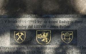 Ostrava. Pomník příslušníkům hornických PTP – důl Ludvík